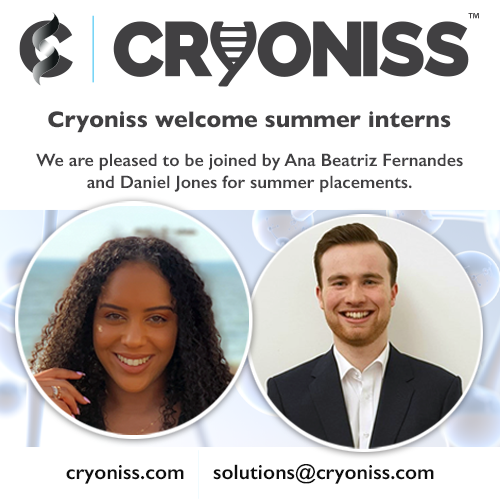 Cryoniss welcome summer interns