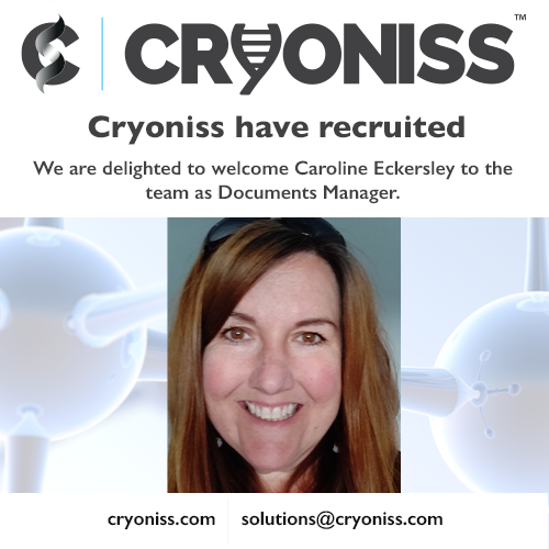 Cryoniss recruits Caroline Eckersley as Documents Manager