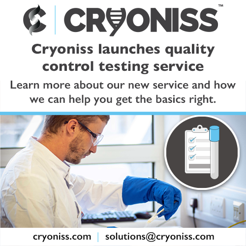 Cryoniss launches its quality control testing service
